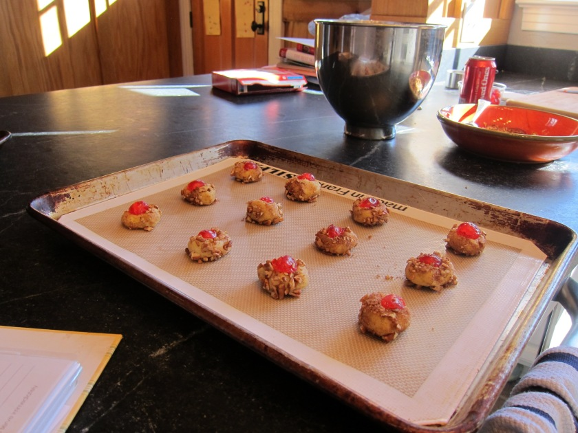 unbaked cookies on sheet